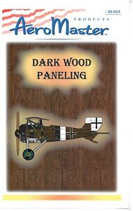 AeroMaster Dark Wood Paneling Decals AN48604 WWI Fighters 1/48 Scale