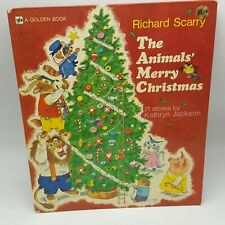 Richard Scarry Animals Merry Christmas vintage illustrated childrens book 1974