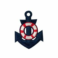 Anchor (Iron on) Embroidery Applique Patch Sew Iron Badge