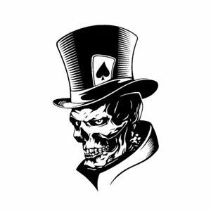 Lovely Joker Skeleton Skull Playing Cards Poker Monster Hat Sticker 11.3*17.6