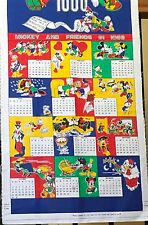 Walt Disney Co Calendar Fabric 1988 Mickey And Friends Peter Pan Fabric Diy