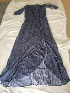 PETAL & PUP Navy Blue Maxi Dress (Size 12, As New)