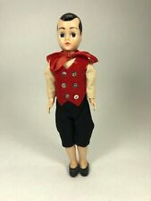 Vintage Boy Doll With Red Vest & Black Knickers & Closing Eyes 7 1/2""