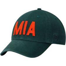 Miami Hurricanes Hat Adjustable Men's District Green TOW NCAA