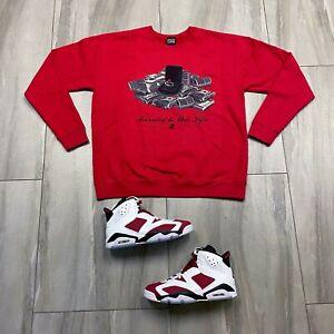 Sweater to match Jordan Retro 6 Carmine Sneakers. Married Crewneck