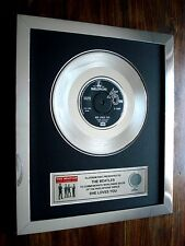 "THE BEATLES SHE LOVES YOU PLATINUM DISC 7"" RECORD DISC SINGLE AWARD"