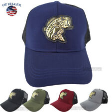 FISHING hat cap FISH Embroidered Outdoor Sports Bass Camouflage Baseball cap (1)
