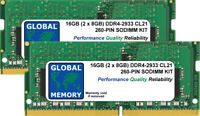 16GB (2 x 8GB) DDR4 2933MHz PC4-23400 260-PIN SODIMM MEMORY RAM KIT FOR LAPTOPS
