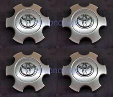 SET (4) 2003 2004 2005 2006 2007 Toyota Tundra Sequoia Center Caps HYPER Silver