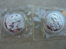 CHINA 2 X 10 Yuan Panda 1 oz Silver 2005 Shenzhen & Shenyang Sealed Mint