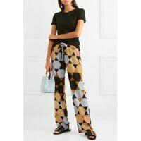 Stine Goya Trousers Size XS Aileen Hexagons Amber Print Silk BNNT RRP £240