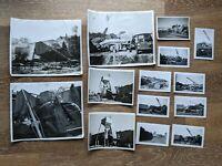 Vintage Photo Lot Railyard Construction Accident Car Crash Nebraska 1950s