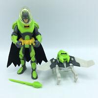 """DC Comics Batman Action Figure Green Space Suit Helmet Cape Superhero 6"""" RARE"""
