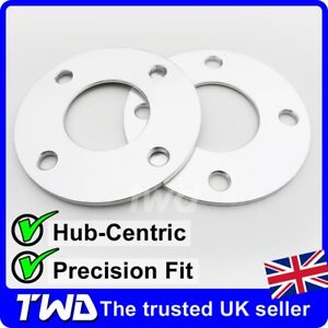 5MM HUB CENTRIC ALLOY WHEEL SPACERS FOR FORD 4X108 PCD 63.4 PAIR SHIMS [2HX]