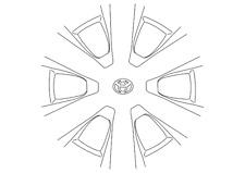 Genuine Toyota Wheel Cover 42602-06010