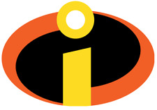 The Incredibles Logo Iron On Transfer Light or Dark Fabrics 5 x 7 Size