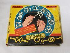 Vintage Gilbert Puzzles Game: Number 200, 12 Metal Mind Benders, 11 Unopened