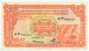 SOUTHWEST AFRICA 1 Pound 1942 P8b VF