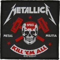 Metallica Men's Metal Militia Woven Patch Black