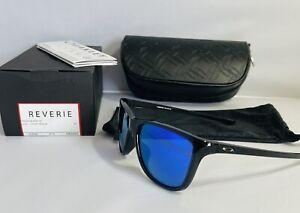 New Oakley Reverie Womens Sunglasses Black Ink Frame - Violet Iridium Lens