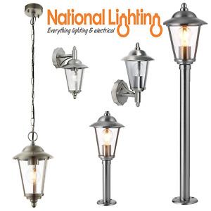 Outdoor Post Wall Pendant Bollard Light Lantern Stainless Steel  FAST FREE P+P