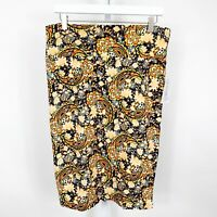 LulaRoe Paisley Print With Floral Cassie Pencil Skirt Size Med New With Tags