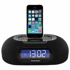 Thomson Clock Radio with Lightning Dock USB Charge port and Dual Alarm ID35 SR