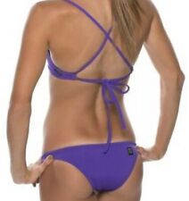 JOLYN Athletic BRAZIL Bikini Bottoms SMALL Drawstring BOLDS Purple NWOT New!