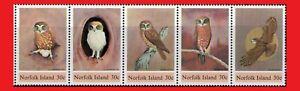 ZAYIX - 1984 Norfolk Island 343 MNH - Boobook Owl strip