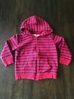 Circo Toddler Boys Hoodie Sweatshirt, Size 3T, Red and Navy Blue Stripes, Zip Up