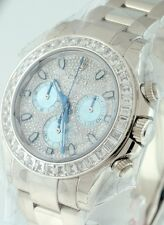 NEW Rolex Daytona Platinum $155,250.00 Baguette Diamond Bezel 40mm gent's watch.