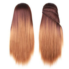 26inch Mannequin Head With Ombre Synthetic Hair Long Thick Hair For Braiding