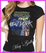 GUESS Jeans City Print  Logo Tank T-shirt Tee T shirt Top Blouse NWT XS,S,M,L,XL