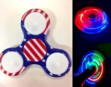 NEW Rainbow Led Flashing Camouflage Hand Spinner Fidget Toy Desk Focus Toy_FLAG