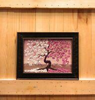 Cherry Blossom Original Impasto Oil Textured painting Floral still life 02-39
