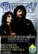 Burrn Jun/2007 Ronnie James Dio Tony Iommi Black Sabbath Heaven and Hell