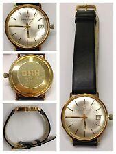 Armbanduhr Eterna-Matie 585er Gold Gehäuse Herrenuhr mit Datumsanzeiger