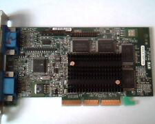 AGP card Matrox 906-04 Rev B MGI G4+MDH4A32G Dual VGA 406E MT03590 LAM96806