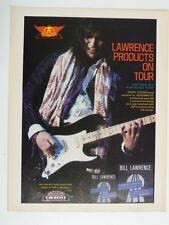 retro magazine advert 1983 BILL LAWRENCE / jimmy crespo / aerosmith