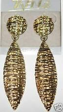 Beautiful 8cm straw design Gold dangling EARRINGS
