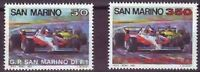 San Marino 1983 SG 1208-1209  Mi 1282-3 MNH Formula One Grand Prix Racing Cars