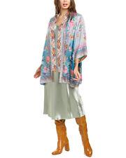 Johnny Was Nova Revers 100 Silk Lined Floral Embroidered Kimono Jacket Multi XL