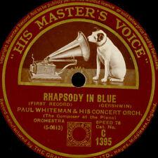 PAUL WHITEMAN ORCH. & GEORGE GERSHWIN -PIANO- Rhapsody in Blue 1&2  78rpm G4284