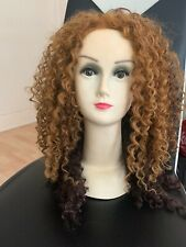"""Mixed Blonde And Brown Lace Front Curly Wig 22"""""""