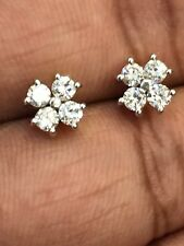 0.62 Cts Round Brilliant Cut Natural Diamonds Stud Earrings In Fine 14Carat Gold