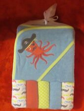 6Pc Baby Hooded Towel & 5 washclothes Octopus Pirate by Baby Gear