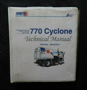 2002 JOHNSTON 770 CYCLONE STREET SWEEPER BROOM SERVICE REPAIR MANUAL W/BINDER