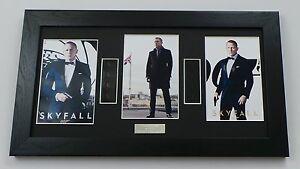 JAMES BOND SKYFALL Memorabilia JAMES BOND FILM CELL Framed DANIEL CRAIG 007