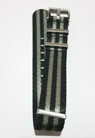 Nylon Watch Strap 20mm 22mm Black Navy Grey Bond Divers Military NEW