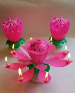 """3  - """"HOT""""  Incredible Magical Birthday Candle - 3 PACK ALL HOT PINK!!!"""